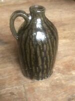 Whelchel Meaders Pottery Pitcher Drip Green Glaze 1984 Signed