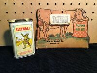 Antique Vintage Calendar and Tin from New Jersey NJ