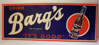 Vintage Soda Drink BARQ'S  It's Good Root Beer Country Store Paperboard Sign