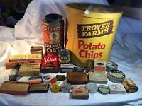 VINTAGE LOT Advertising Tins & Etc. 33 Pcs.