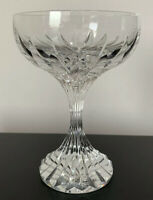 "SIGNED BACCARAT CRYSTAL MASSENA CHAMPAGNE SHERBET COUPE 5.5"" FRANCE STEMWARE"