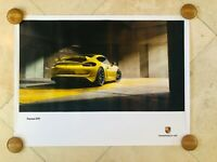 Porsche Original Factory Poster - 981 | Cayman GT4 | Warehouse | Yellow