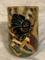 Shearwater Pottery Patricia Anderson Hand Painted Butterfly Mug