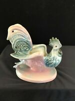 1950's Hull Pottery Rooster Planter # 53 Vintage Pink and Grey Green