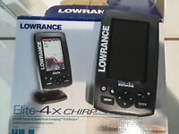 Lowrance elite x-4 chirp with broadband transducer