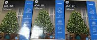 3x Lot GE 400 LED Light Tree Wrap Lights Warm White Indoor / Outdoor Netting