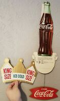 Vtg Original Coca Cola Ice Cold King Size Store Mobile Die Cut Hanging Sign