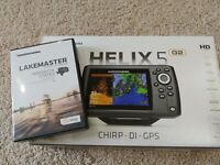Humminbird Helix 5 Chirp Di GPS G2 with LakeMaster MIdSouth States Card