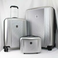 TAG SPECTRUM 3 PC. HARDSIDE SPINNER LUGGAGE SET SILVER