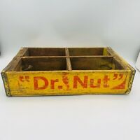 Vintage Dr Nut Soda BOTTLE Wood Crate Yellow NOT! Coke Pepper Pepsi OR Coca-Cola