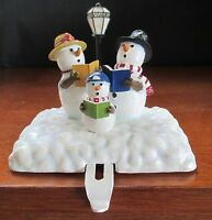 Snowman Stocking Hanger Holder Meet the Flakes Christmas Caroling by Our America