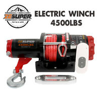 ZESUPER Electric Winch 4500LBS 12V Synthetic Rope Tow Truck ATV UTV Offroad Boat