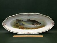 Antique Carl Tielsch CT Germany Fish Oval Porcelain Tray Platter Transferware