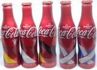 *S* Coca Cola Aluminum Bottle EURO2016 Complete Set of 5 From Spain Empty