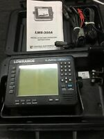 Lowrance LMS-350A Sonar/GPS, Power Cable, Transducer and LGC-1GPS Module