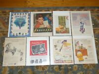 Lot of 50+ Vintage Old Magazine Advertisements Ads Baby Ruth, Coca Cola, DeSoto
