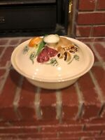 1971 Los Angeles Pottery Yellow Ovenware Casserole Serving Dish Covered Bowl