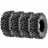 Full Set of New Sun-F ATV UTV QUAD SXS Tires (4) 26X11-14  26X11X14 6PR /033