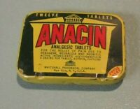 Vintage Whitehall Anacin Tablets Medical Advertising Tin with Contents New York
