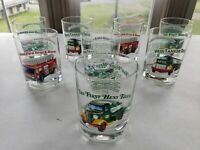 1996 HESS Classic Truck Glasses - 2 Complete Sets (lot of 8 drinking glasses)