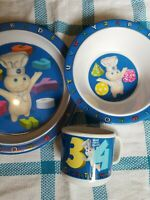 Pillsbury Doughboy 3 pc. Child's dish set plate bowl cup 2000