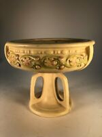 Weller Roma Tri Footed Bowl Comport Dish Old Arts and Crafts Pottery Vase