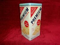 Vintage 1969 NABISCO PREMIUM SALTINE CRACKER Tin Container, Salesman Sample