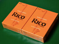 2 Boxes Rico Bass Clarinet Reeds #'s 2 & 2.5...Brand new