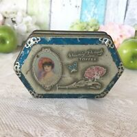 Lovely Antique Dainty Dinah Tin litho box, Vintage Advertising, Horner Toffee