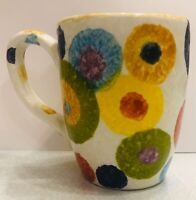 Deruta pottery: Mug With New Circle Pattern .Made Painted by hand Italy