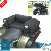 New Black Rear Padded Bottom Bag Coleman ATV With 3 Large Zippered Compartments