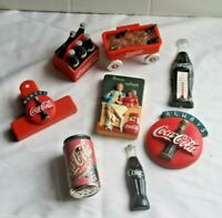 Mixed lot of 8 vintage Advertising Coca Cola refrigerator magnets from 1990's