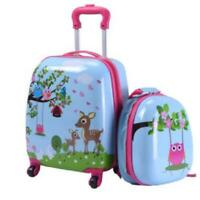 Jaxpety 2Pc Kids Carry-On Luggage And Backpack Upright Hard Side Hard Shell Suit
