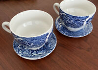 Liberty Blue Staffordshire Ironstone china from England Lot of 2 Cups