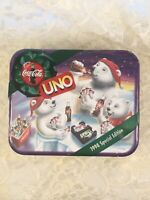 NEW Sealed 1998 Mattel Coca Cola UNO Special Edition Card Game with Tin 41764