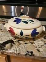 Vintage Putinton Pottery Slip Ware Covered Casserole Dish