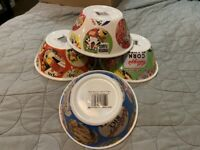 KELLOGG'S VINTAGE LOOK CEREAL BOWL SET OF 4 FROSTED FLAKES FRUIT LOOPS RICE CORN