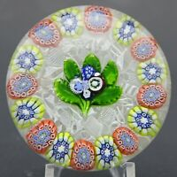 RARE Antique ST. LOUIS Nosegay & Millefiori COMPLEX CANES Art Glass PAPERWEIGHT