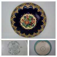 Emaux de Longwy Vintage Blue & Ivory Platter, M.P. Chevallier Made in France 14