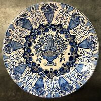 18th Century De Klaauw Dutch Delft Charger