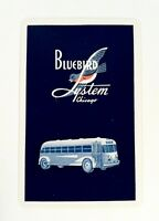 Vintage 1947 Ride Bluebird Bus System Chicago Brown & Bigelow Playing Cards RARE