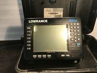 LOWRANCE X70A DEPTH FISH FINDER With Wires Hardware & Carrying Case Manual Book