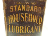 Antique Household Lubricating Oil Tin Standard Oil Company California Metal Can