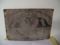 Authentic 1890s Tin Advertising Sign WOLVERINE HORSE HIDE 1000 MILE SHOE 20 x 14
