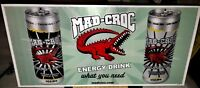 2007 MAD CROC Energy Drink Beer Sign Outdoor XL Monster Rockstar Red Bull USA