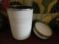 DUNKIN' DONUTS Metal Coffee Canister w/removable Lid Vintage Collectible 8 X 5