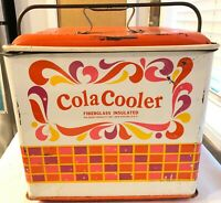 1950's Vintage Cola Cooler Poloron Products  Fiberglass Insulated - Rochelle, NY
