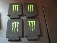 Monster Energy Logo Insulated Koozie Drink/beer Holder - Lot of 4 *Brand New*