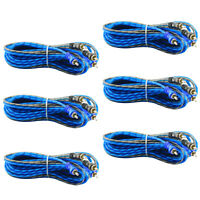 6 Pcs 2 RCA to RCA Interconnect HiFi Audio Cable Male Connector Wire 17 Feet $19.99