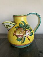 "Deruta Pottery Pitcher 7 3 4"" Tall . Made in Italy"